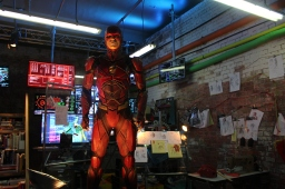 Playing the hero at the Justice League Experience